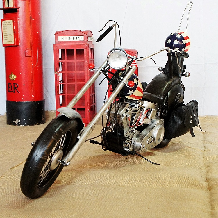 85 Cm Retro Iron American Cowboy Motorcycles Model Ornaments Vintage Metal Motorcycles Home Decor SMT111 Free Shipping rovertime rovertime rtm 85