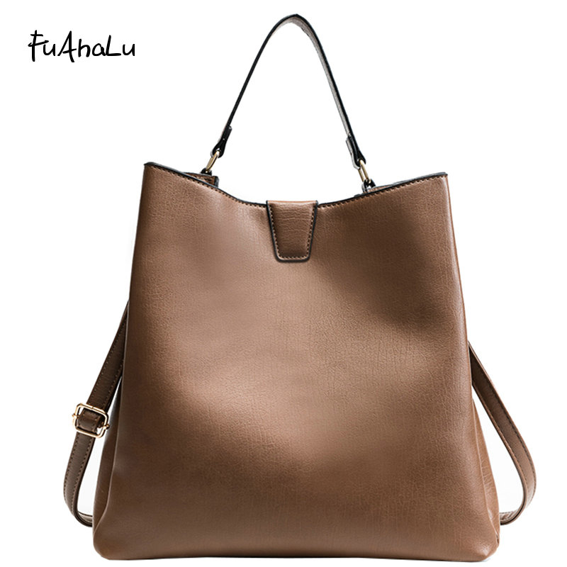 FuAhaLu Women's autumn and winter new fashion simple portable shoulder diagonal cross-child bucket bag цены