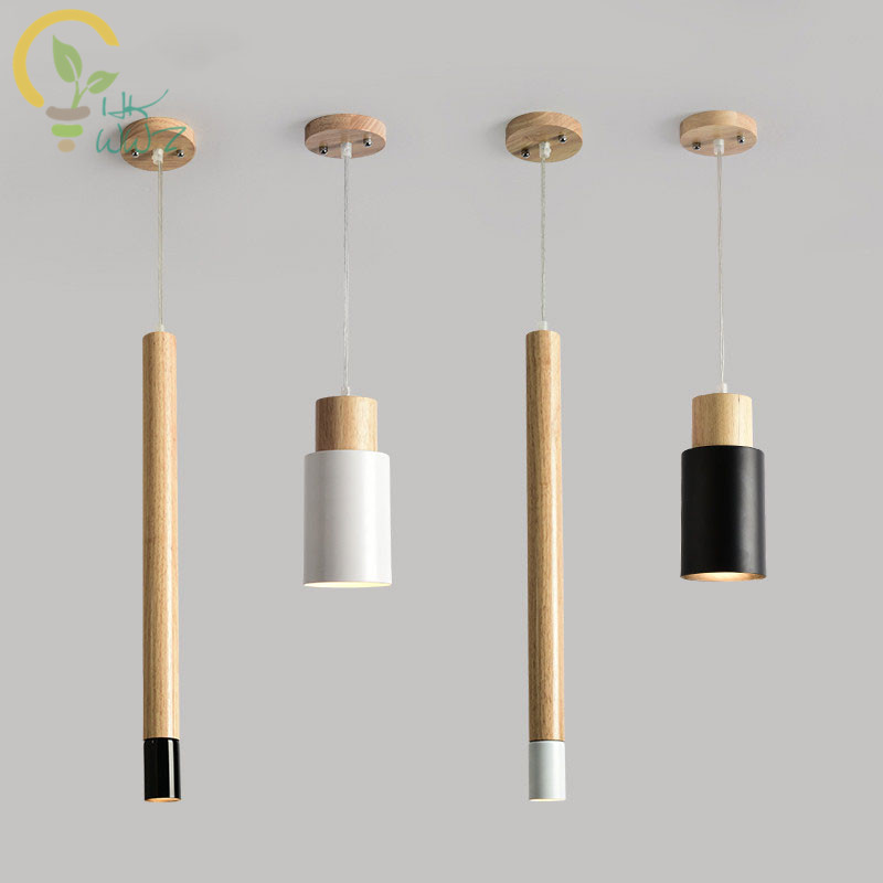 Nordic Designer Led Pendant Lights Wooden Dining Light Modern - Wood kitchen light fixtures