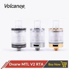 Volcanee Dvarw V2 MTL RTA haut remplissage débit dair inférieur 22mm diamètre pour Vape réservoir E Cig vs recharger Doggy Style horizon atomiseur