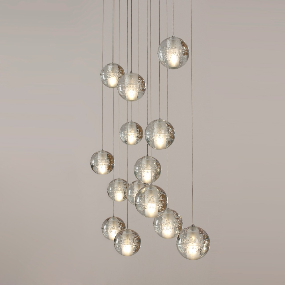 modern lighting fixture. Ecolight Modern Lamps Led Pendant Chandelier Lights Balls Transparent Crystal Globes Stairs Loft Light Fixtures LED Lamp-in From Lighting Fixture