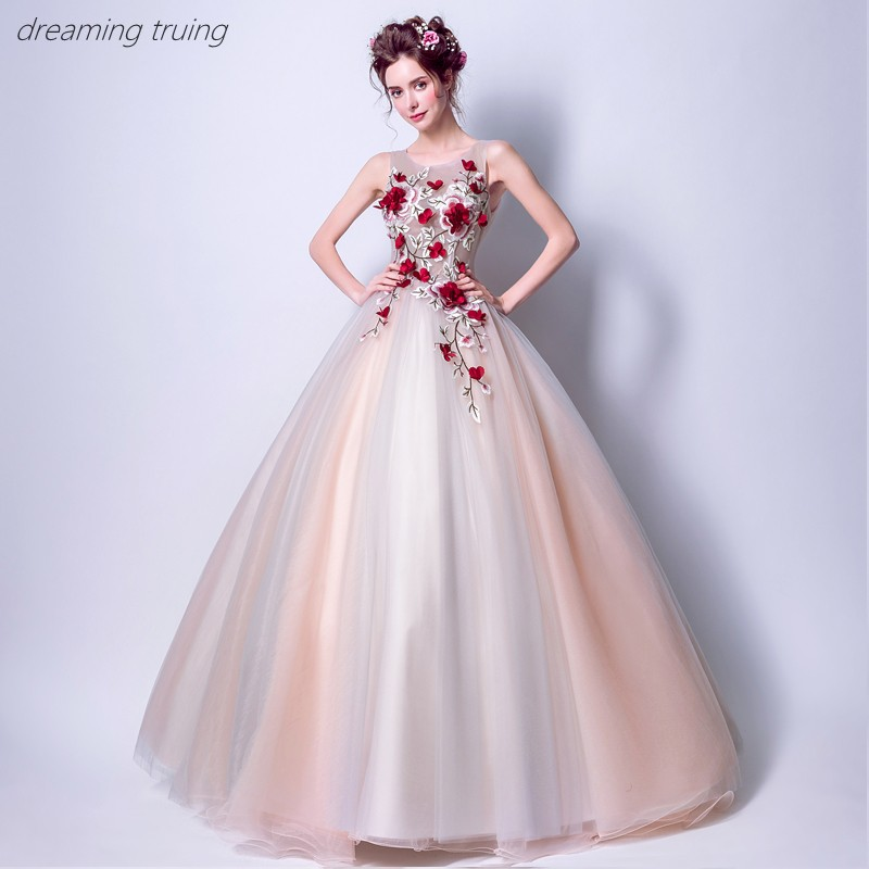 Us 8514 14 Offred 3d Flower Quinceanera Dresses Vestidos De 15 Anos Dresses For Quinceaneras Party Ball Gown Girl Sweet 16 Dresses Robe De Bal In