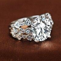 кубические цирконы CZ с кристалл белое золото цвет кольца для женщин анель bague палец кольцо ювелирные изделия свадебные аксессуары 8r1532