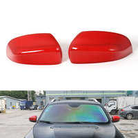 2pcs ABS Side Door Mirror Rearview Mirrors Covers Shell Trim Protector For Cherokee 2014 2015 2016
