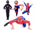 5sets/lot Free Shipping Kids Spiderman Superman Zorror Batman Costumes Halloween Party Children Boys Fancy Dress Cosplay Clothes