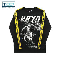 TEE7 Men Game LOL Galiot Long Sleeve T shirt Male Winter Hip Hop Shirt Male Cotton Lace Sweatshirt Men Fashion Brand Clothing