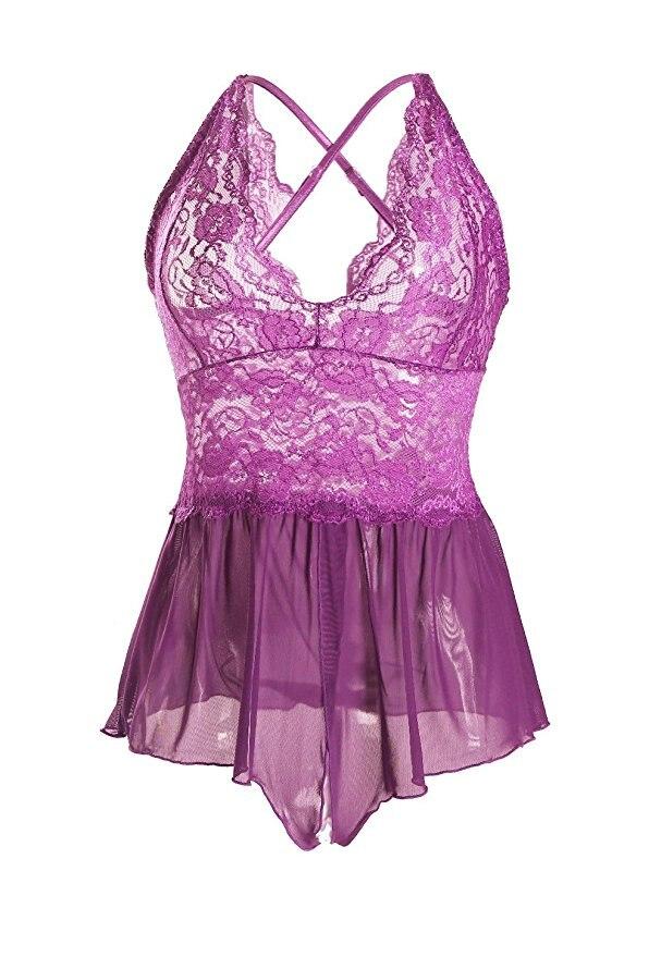 ᗗBody Suit mujeres Sexy Transparente de Encaje ropa fantasias ...