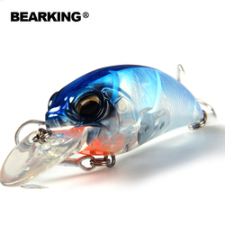 Bearking professional hot fishing tackle Retail 2015 good fishing lures 65mm,14g crank.dive 2m,pike fishing