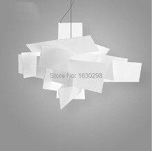 Modern Big Bang Suspension Pendant Lights Stacking Acrylic Lamps Home Decor D65CM /91CM Light Fixture E27 Bulb Lighting for Bar