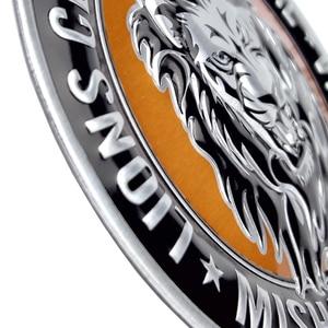 3D Aluminum Lion Eagle Tiger Logo Car sticker Auto motocross motorcycle Emblem Badge Decals for peugeot Citroen renault Lada Kia