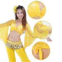 Girl Women Fashion Belly Dance Lace Butterfly Sleeve Tops Costume Hippy Belly Dance Wear Tops обувь для тибетских танцев butterfly dance 1204