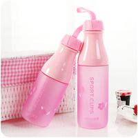 My Plastic Silicone Water Bottle Portable Cup Drinkfles Termo Agua Camping Supplies Children Creative Water Bottle