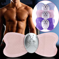 Electric Mini Butterfly Body Muscle Massager Slimming Fitness Device Shock Therapy with 4 LED lights display