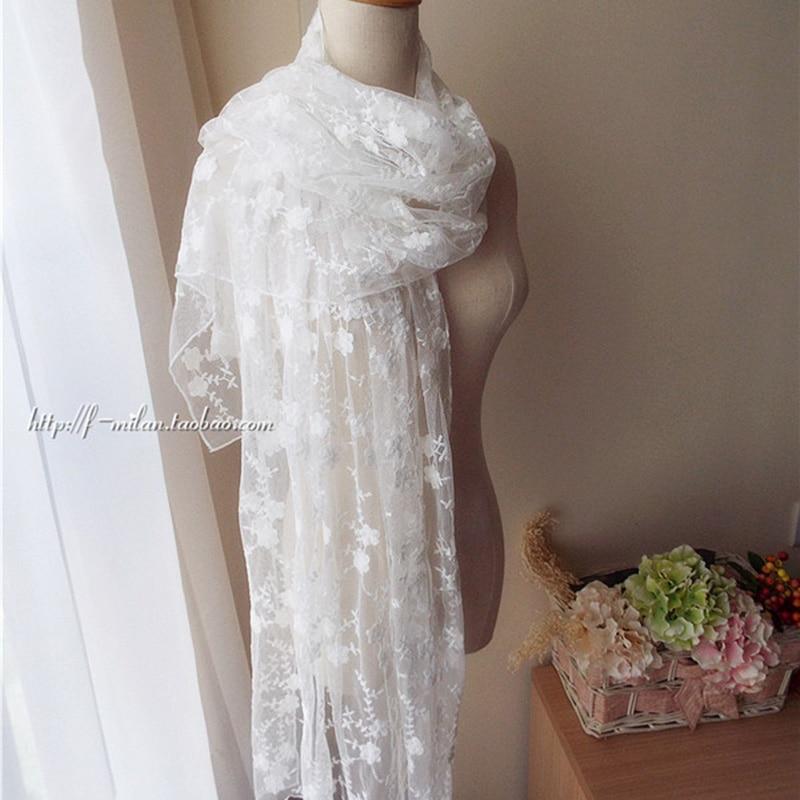 Lace Cotton Scarves Female Scarf Shawls Retro Elegant Tempers