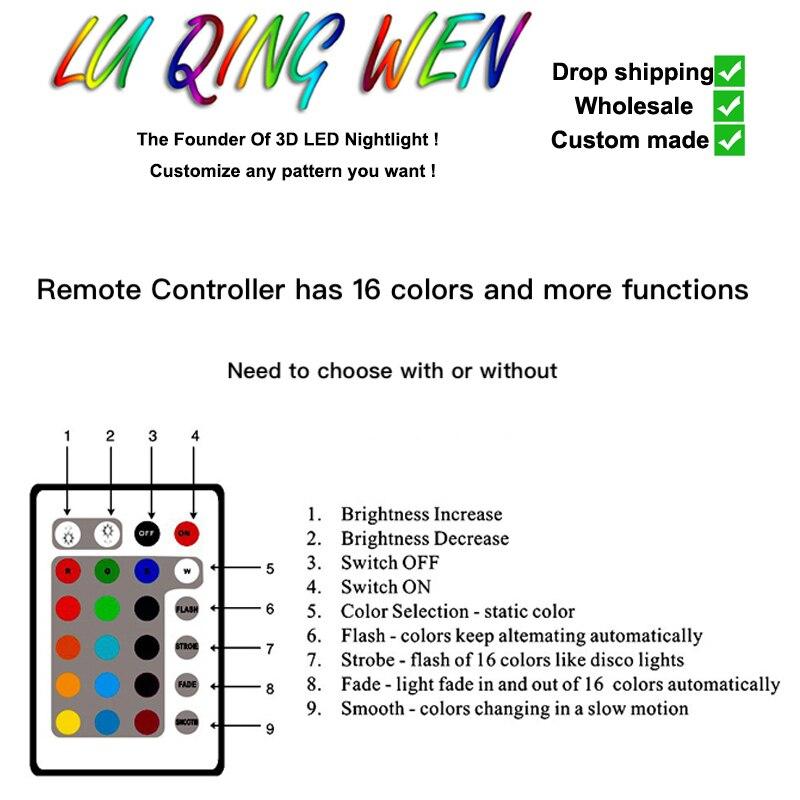 custom 3d lamp LED