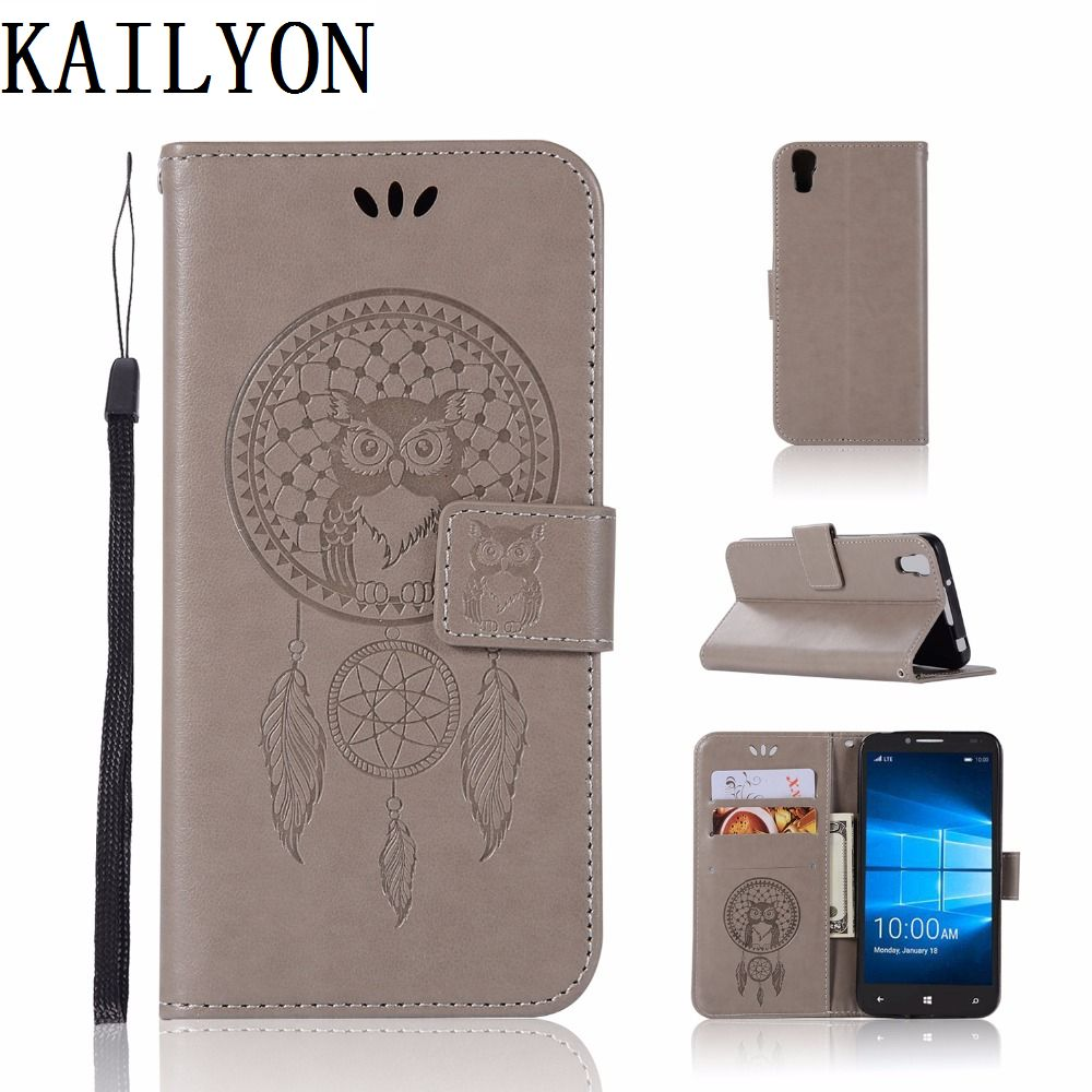 For <font><b>Alcatel</b></font> <font><b>Idol</b></font> <font><b>4</b></font> Idol4 6055B 6055H 6055I <font><b>6055K</b></font> Leather Cover For <font><b>Alcatel</b></font> <font><b>Idol</b></font> <font><b>4</b></font> 5.2