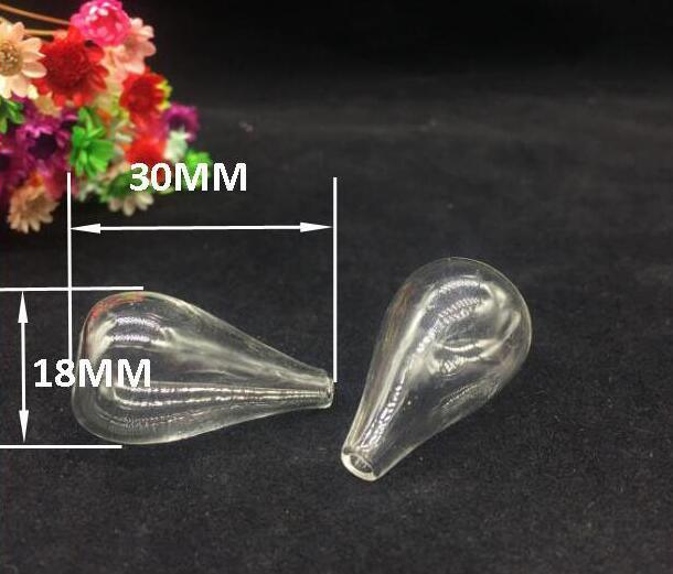 100pcs 30 18mm flat bottom glass globe necklace pendant glass bottle vial fashion diy jewelry accessory