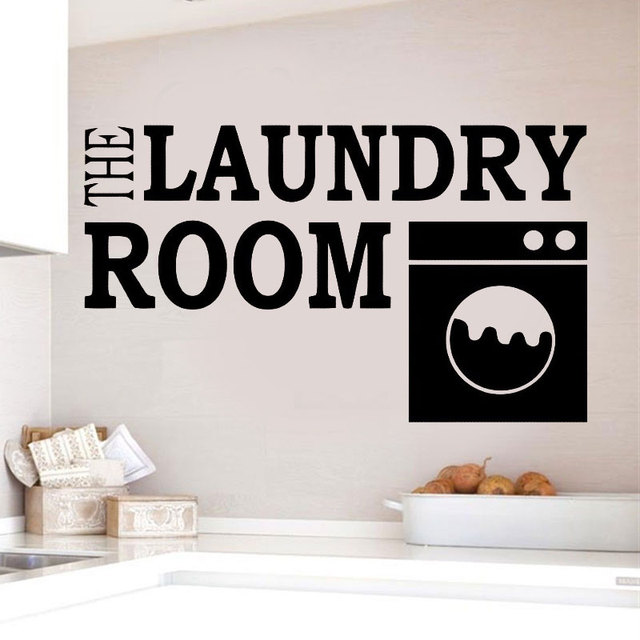Laundry Room Wall Decal Vinyl Sticker For Wall Removable Laundry Room Logo Wall Murals Quote Style Vinyl Wall Decoration DY04