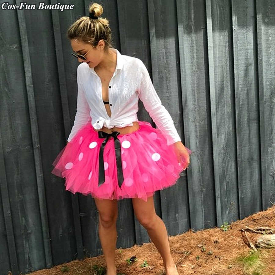 79b54afcef1e6 Midi Adult Minnie Mouse Tutu Skirt Halloween Clothes Birthday Party ...