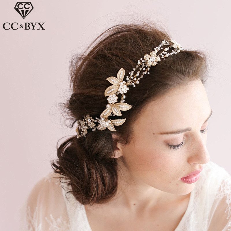 CC Headband For Girl Hairbands Romantic Crystal Flower High Quality Wedding Hair Accessories For Bridal Engagement Jewelry O041