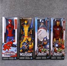 30cn Brinquedos The Avengers Spider man super heros Capitão América Wolverine Thor SpiderMan Action Figure Boneca de Brinquedo Presentes de Natal(China)