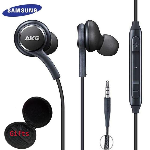 Pour SAMSUNG Écouteurs Noir IG955 3.5mm In-Ear avec Microphone Fil Casque pour Samsung Galaxy S8 s9 huawei Smartphone AKG