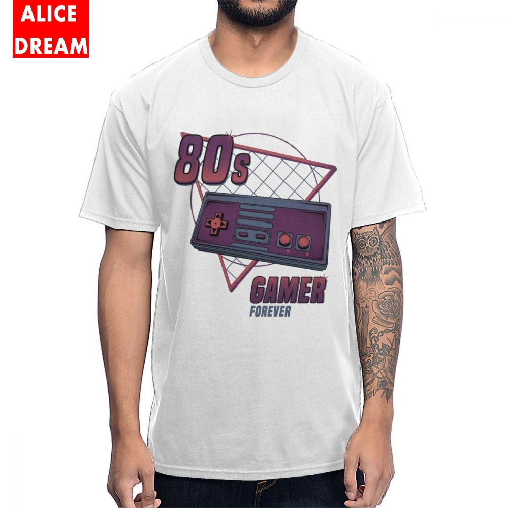 80s Gamer Forever Vintage FC Console Game T Shirt 2019 Homme Tee Shirt Cotton BONADIAO Tshirt 100% Cotton Tees