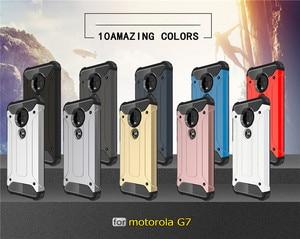 Image 2 - 10 шт. Прочный чехол для MOTO P40 Note P30 power Z4 Play G7 Plus G6 E5 гибридный жесткий, крепкий двухслойный противоударный чехол для телефона