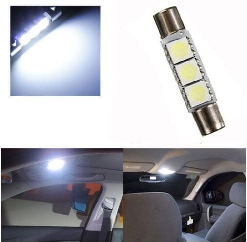 1 шт 29 мм 3 SMD 5050 светодио дный Авто C5W интерьер купола фестона косметическое зеркало козырек от солнца свет лампы DC12V белый