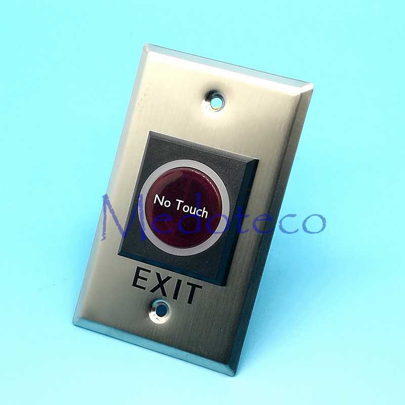 Long type No Touch Exit Button NC/NO/COM Infrared Exit Push Button Release Switch For Eixt Door Access Control System 10pcs no nc com stainless steel exit button with led light for door access control system night vision square metal switch