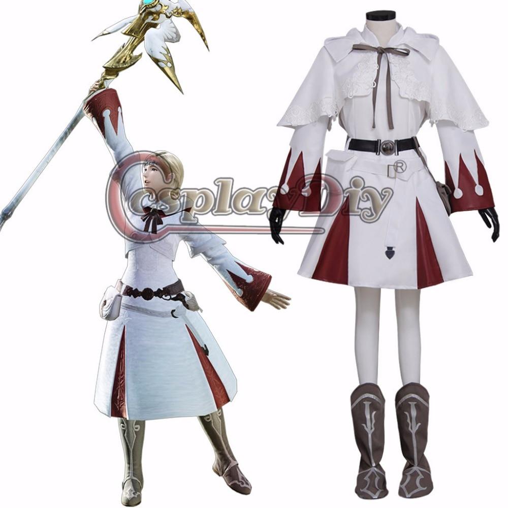 Cosplaydiy Final Fantasy XIII 13 Oerba Dia Vanille Cosplay Dress Skirt Costume Halloween Carnival Costumes Outfit Custom Made