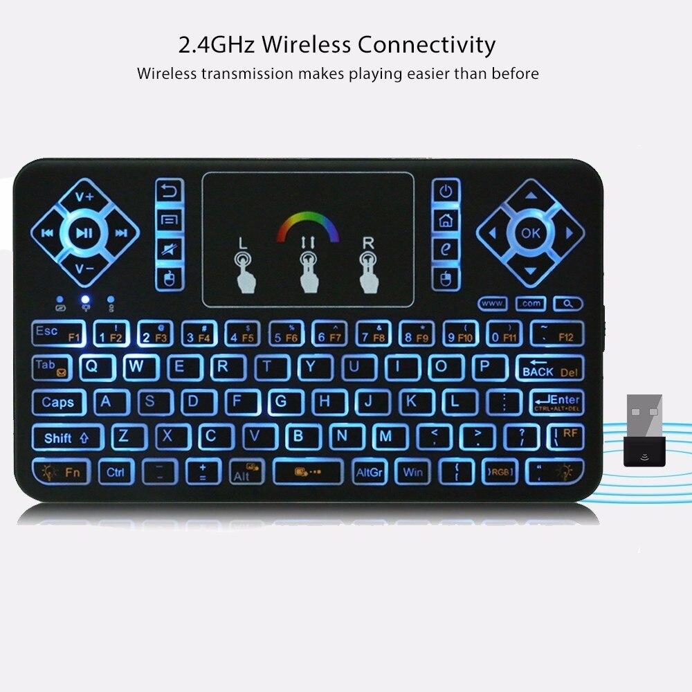 TZ Q9 Mini 2.4GHz Wireless Keyboard RGB Backlight Air