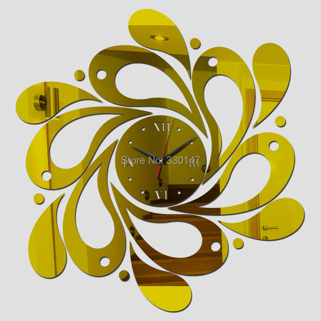 Mirror 3D Watch Spiral Wave Shape Acrylic Mirrored Decorative Wall ...