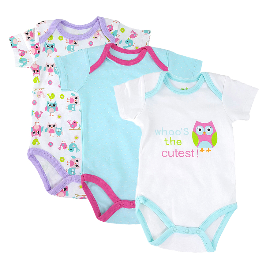 2017 Summer Baby Rompers Baby Girls Clothes Cotton Cartoon Animal Newborn Jumpsuits Ropa Bebes Infant Baby Clothing BPYSET004