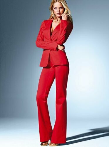 Women Business Suits Formal Office Suits Custom Made Red OL Long Sleeve Suits