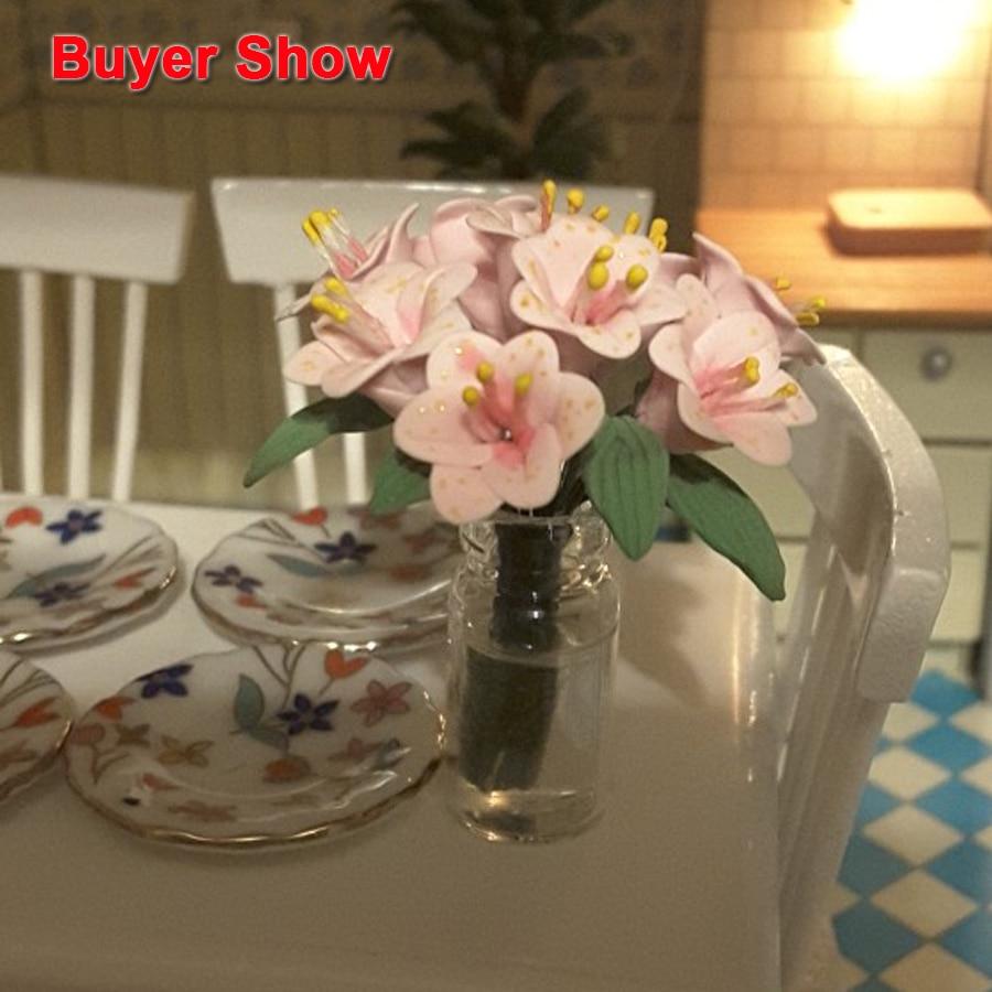 1:12 en miniatura Pequeña cafetera con dos tazas rellenas