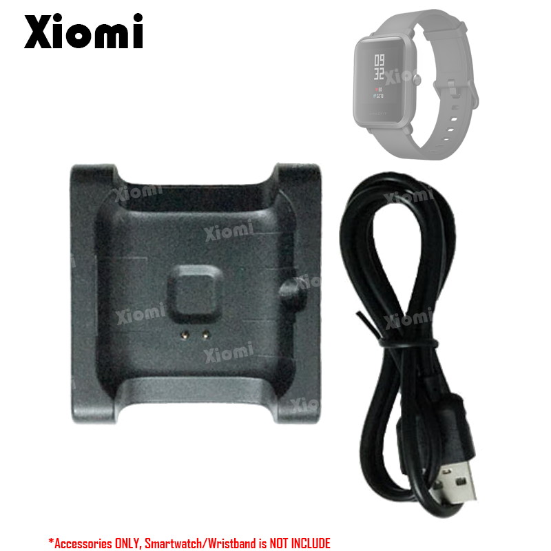 USB Charging Cable Data Sync Cord Dock Charger Adapter Stand for Xiaomi Huami Amazfit BIP BIT PACE Lite Youth Smart Watch A1608 usb charging cable dock for xiaomi huami bip bit pace youth watch charger 1m portable charger data cable charging dock cradle