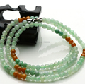 20 Inch Length 100% A Grade Natural Jade/Jadeite Colourful 4mm Beads Necklace