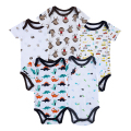 2016 Newly Baby Bodysuits 100% Cotton Boy Girl 1st Birthday Cheap Newborn Clothing Unisex 5PCS/LOT Mother Nest Summer Set