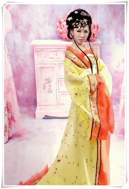 Alta calidad mujeres rayón chino traje tradicional Sexy hombro hilo para mujer del vestido de la antigua 2 unids china Folk Dress 17