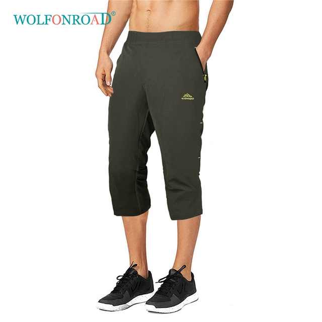 b2b5239f091 WOLFONROAD Men Quick Dry Climbing Shorts Camping Hiking Sport Shorts 5XL  Plus Size Short Trousers Men Summer Shorts L-XMCK-07