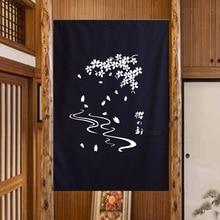 Nice Curtains Sakura Japanese shade door curtain Chinese half shade cotton canvas door curtain blue curtains & Buy canvas door curtain and get free shipping on AliExpress.com