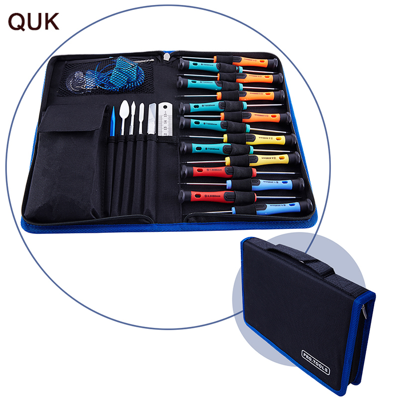 QUK Screwdriver Set 33 In 1 Precision Repair Tools Kit Opening Disassembly for phones Laptop Tablet Watch Hand Tools