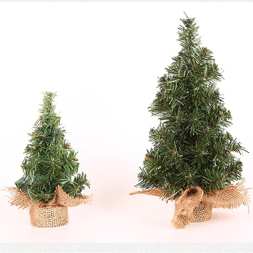 Mini Christmas Tree Artificial Plants Desk Table Decor