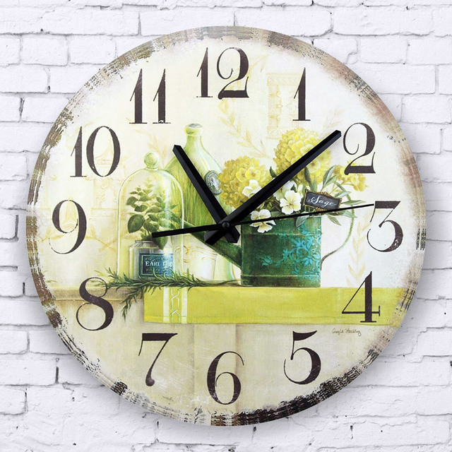 vintage large decorative wall clock absolutely silent decoration ...