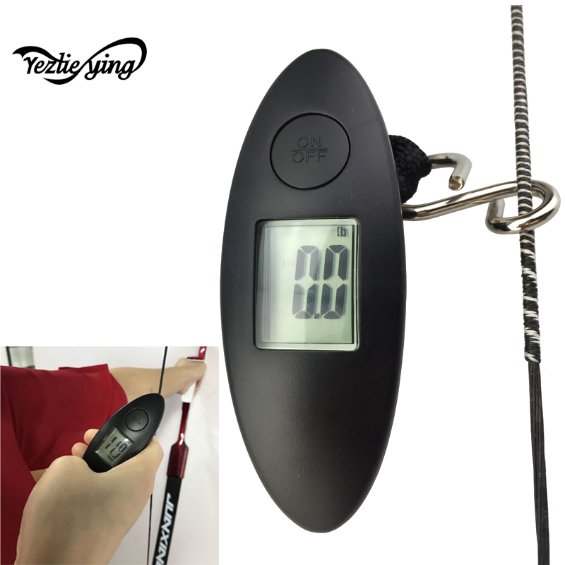 Archery Bow Pounds Lbs Measuring Digital 88lbs Hanging Scale Bow Pounds Meter Test Tool For Recurve Bow Compound Bow Hunting sweetness test refractometer sugar measuring reader meter range 0 20