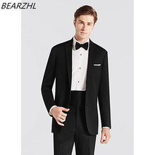 men's suits formal black waistcoat groom suit high quality custom made suit wedding tuxedo classic suit 2017