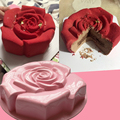 Big Rose Baking Tray Silicone Cake Mold Single Bore Big Silicone Mold Large Bakeware Toast Bread Mold