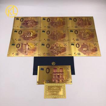10 sztuk partia francja pamiątkami biletów Notre Dame katedra złota folia banknotów 0 Euro uśmiech mony lizy banknotów dla fanów kolekcji tanie i dobre opinie Pozłacane Antique sztuczna Sport dayarose Plastic Waterproof Durable Unique 13 5*7 5cm