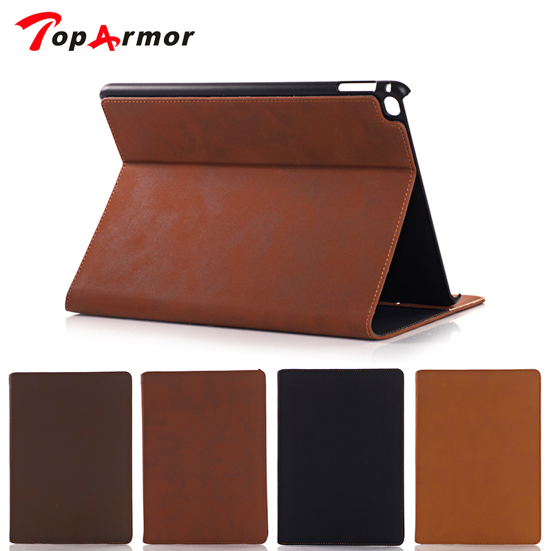 TopArmor for ipad air 2 cover case Business Shockproof Flip Wallet Stand Smart Cover Vintage pu Leather Case for ipad 6 Shell luxury noble business shockproof flip stand cover vintage pu leather case for ipad air ipad 5 smart shell sleep
